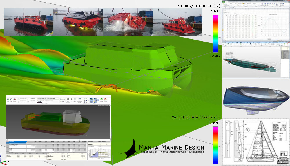 Manta Marine Design CFD and Naval Architecture Calculations